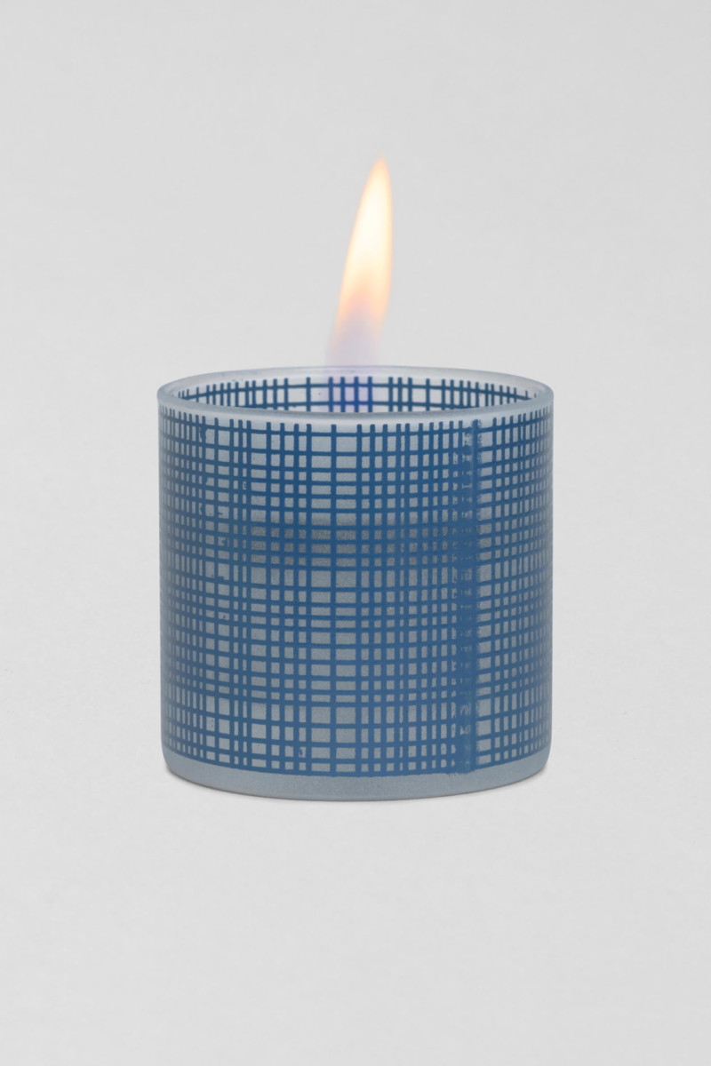 TenderFlame Lilly 8 cm Blue Sandblasted 2
