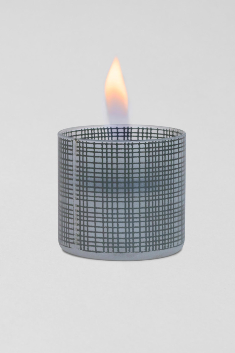 TenderFlame Lilly 8 cm Dark Grey Sandblasted 2